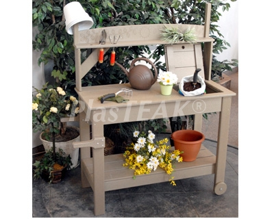 Marvelous Portable Potting Bench Recycled Plastic Interior Design Ideas Grebswwsoteloinfo