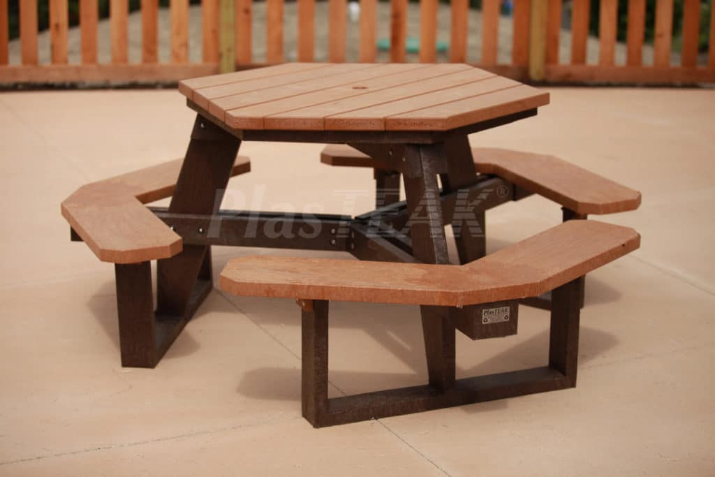 Hex Picnic Table PlasTEAK Inc - Hex picnic table
