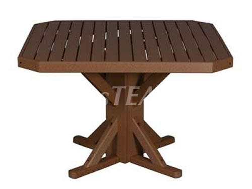 44u2033 Recycled Plastic Square Pedestal Table