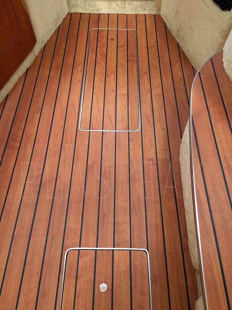 EZ Boat Sole – Teak and Black Interior Flooring